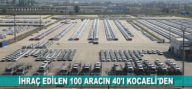 İhraç edilen 100 aracın 40'ı Kocaeli'den