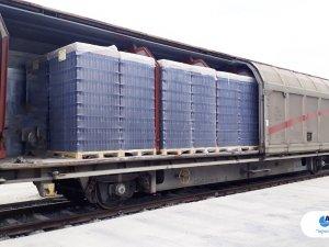 Arkas Lojistik, cam şişeyi demiryolu ile taşıyor