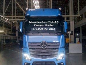 Mercedes-Benz Türk Aksaray Kamyon Fabrikası'nda 275.000'inci kamyonunu üretti
