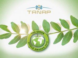 """TANAP, """"Dünya Lideri"""" ve """"Yeşil Dünya Elçisi"""" unvanlarıyla onurlandırıldı"""