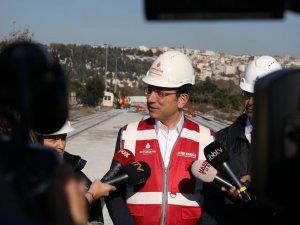 Ekrem İmamoğlu Eminönü-Eyüp-Alibeyköy Tramvay Hattı inşaatını inceledi