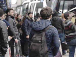 Otobüs seferlerinde yarıyıl tatili yoğunluğu