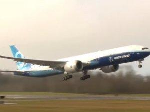 Boeing 777X'in ilk deneme uçuşu yapıldı
