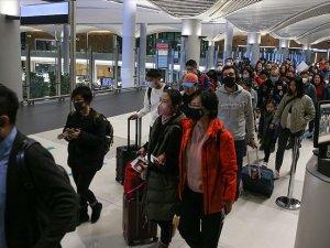 Çin'den gelen yolcuların termal kameralarla kontrolü devam ediyor