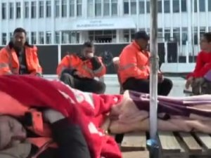 Ercan Havalimanı'nda CAS çalışanları ölüm orucuna başladı