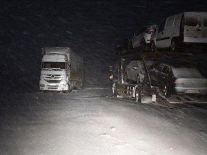 Ağrı Tendürek Geçidi'nde ulaşıma kar ve tipi engeli