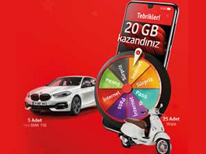Vodafone'un 'hediye çarkı' uçtan uca yenilendi