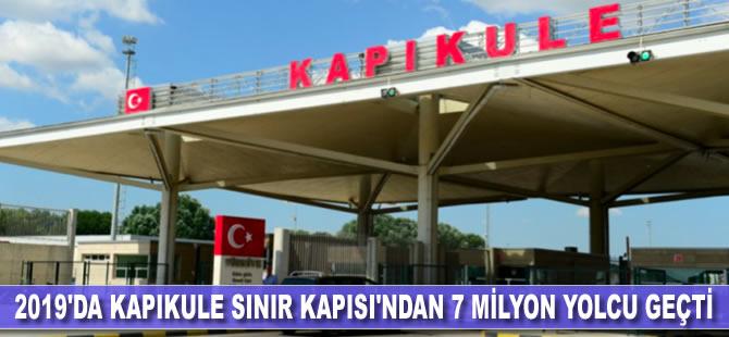 2019'da Kapıkule Sınır Kapısı'ndan 7 milyon yolcu geçti