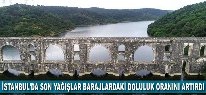 İstanbul'da son yağışlar barajlardaki doluluk oranını artırdı