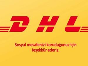 DHL sosyal mesafeye farkındalık için logosunu ayırdı
