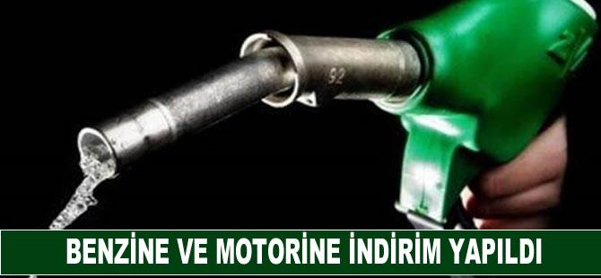 Benzine ve motorine indirim yapıldı
