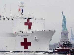 Yüzen hastane Comfort'a corona görevi
