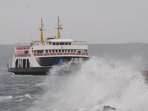 Bozcaada feribot seferleri iptal edildi