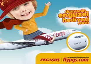 Pegasus uçağına kızınızın ismini yazdırın