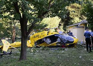 Helikopter düştü yaralanan olmadı