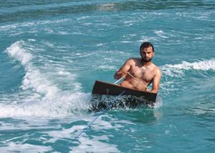 Bu da Karadeniz usulü jetski keyfi!