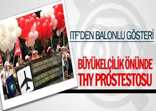 Türk Hava Yollarına balonlu gösteri yapıldı