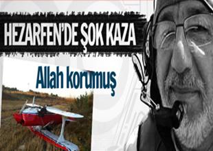 Hezarfen Havaalanı'nda şok kaza