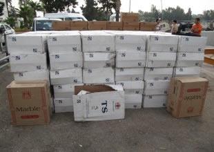 Gemiden 66 bin paket kaçak sigara çıktı