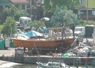 Alaplı'da balıkçıların sezon hazırlığı
