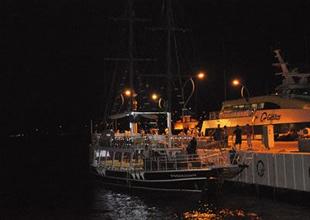 Çanakkale'de mehtap turu büyülüyor