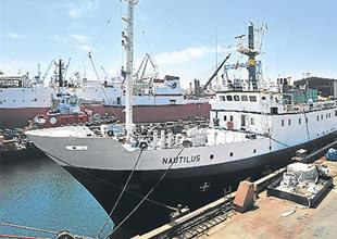 Araştırma gemisi Nautilus Marmaris'te