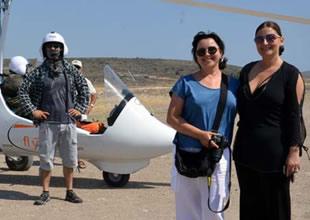 İzmir Alaçatı'da 'Gyrocopter' ile uçuş keyfi