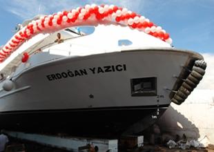 """""""Erdoğan Yazıcı"""" teknesi denize indirildi"""