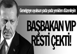 Recep Tayyip Erdoğan VIP resti çekti