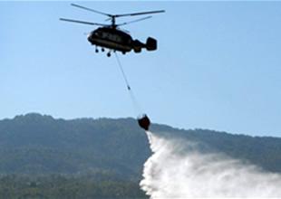 Fethiye'de yangın helikopteri düştü