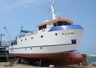 'Seydi Ali Reis' gemisi denizle buluşuyor