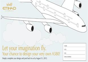 Çocuklar airbus A380'i etihad için yapıyor