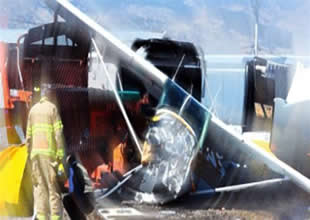Norveç'de Cessna 172 tipi uçak düştü