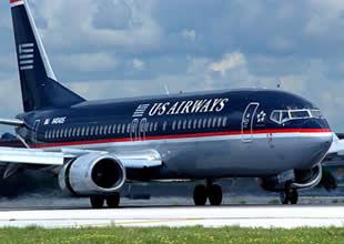 US Airways uçağında duman paniği