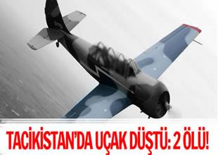 Tacikistan'da eğitim uçağı düştü: 2 ölü