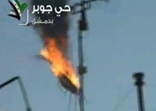 Esad'ın helikopteri Şam'da  düştü