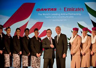 Emirates ve Qantas'tan global ortaklık