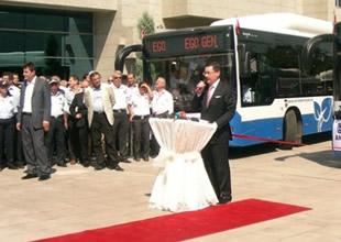 Ankara körüklü doğalgazlı otobüslerine kavuştu
