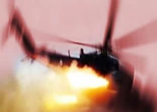 Şam'da askeri helikopter düşürüldü