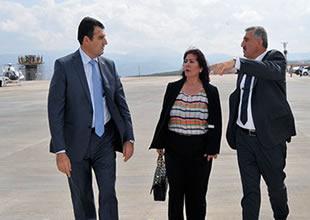 Orhan Birdal, Uzunyazı Havalimanı'nı inceledi