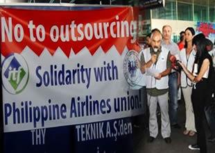 Hava-iş'ten Filipinli meslektaşlarına destek