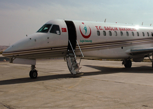 4 sedyeli ambulans uçağı konforuyla dikkat çekti