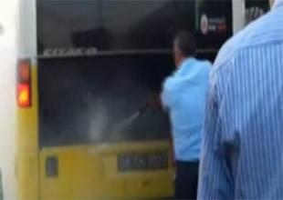 Metrobüste yangın paniği korkuttu