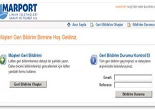 Marport'tan Müşteri Geri Bildirim Sistemi uygulaması