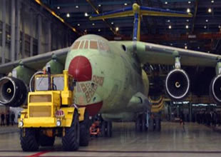 Il-76MD-90A kargo uçağının test uçuşu izlendi