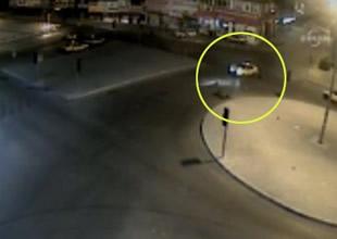Adana'daki ilginç kazalar mobese kameralarında