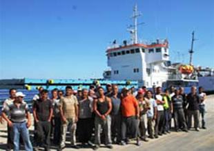 Gazimagusa'da limanda 120 işçi iş bıraktı