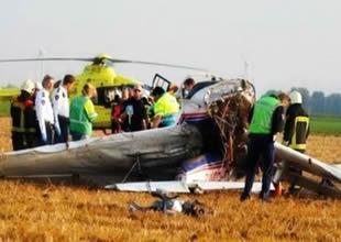 Hollanda'da Cessna tipi iki uçak çarpıştı