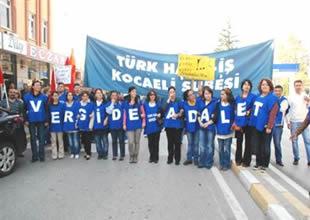 Tersane işçisinden 'Adaletsiz vergi' eylemi