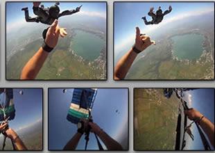 Paraşütçü havada büyük talihsizlik yaşadı